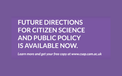 CSaP published a report on future directions for citizen science and public policy