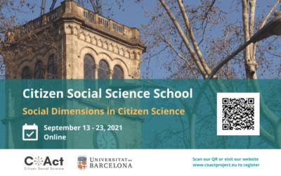 Citizen Social Science School (online), 13-23 September