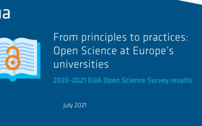 2020-2021 EUA Open Science Survey results published