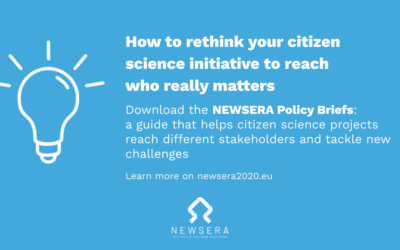 NEWSERA's Policy Briefs pinpoint innovative ideas for citizen science initiatives